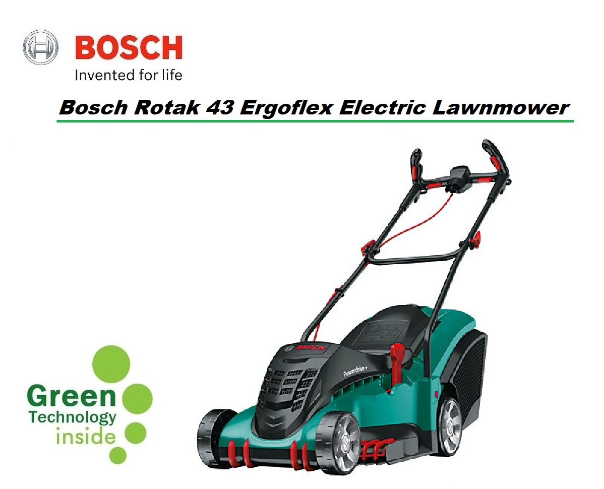 Bosch rotak 43 ergoflex electric lawnmower 43cm r43ef - Bosch rotak 43 ...