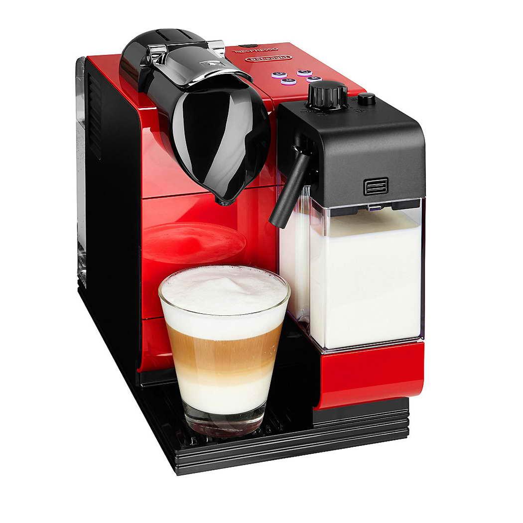 delonghi en521r nespresso lattissima plus capsule machine scarlett red around the clock offers. Black Bedroom Furniture Sets. Home Design Ideas