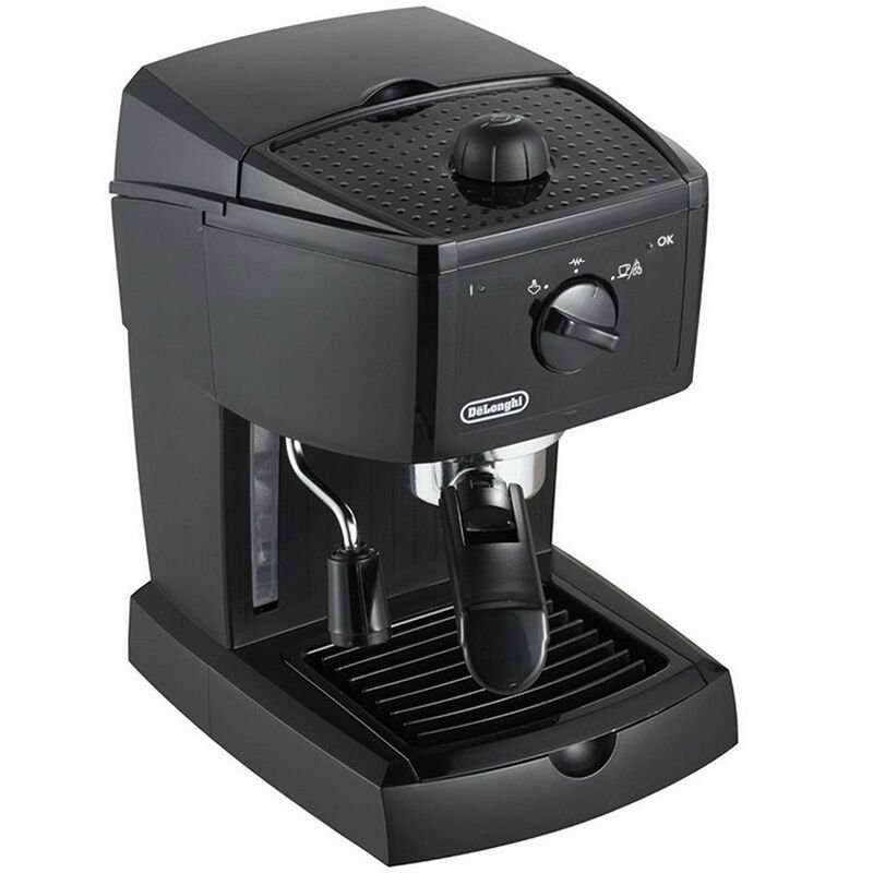 delonghi ec146 b traditional pump espresso machine black around the clock offers. Black Bedroom Furniture Sets. Home Design Ideas