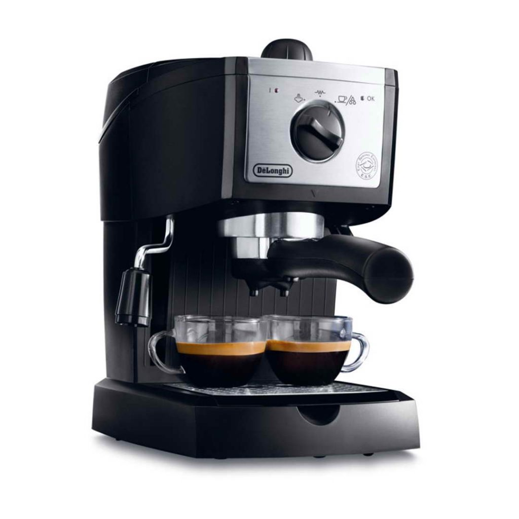 delonghi ec156 b traditional pump espresso machine black around the clock offers. Black Bedroom Furniture Sets. Home Design Ideas