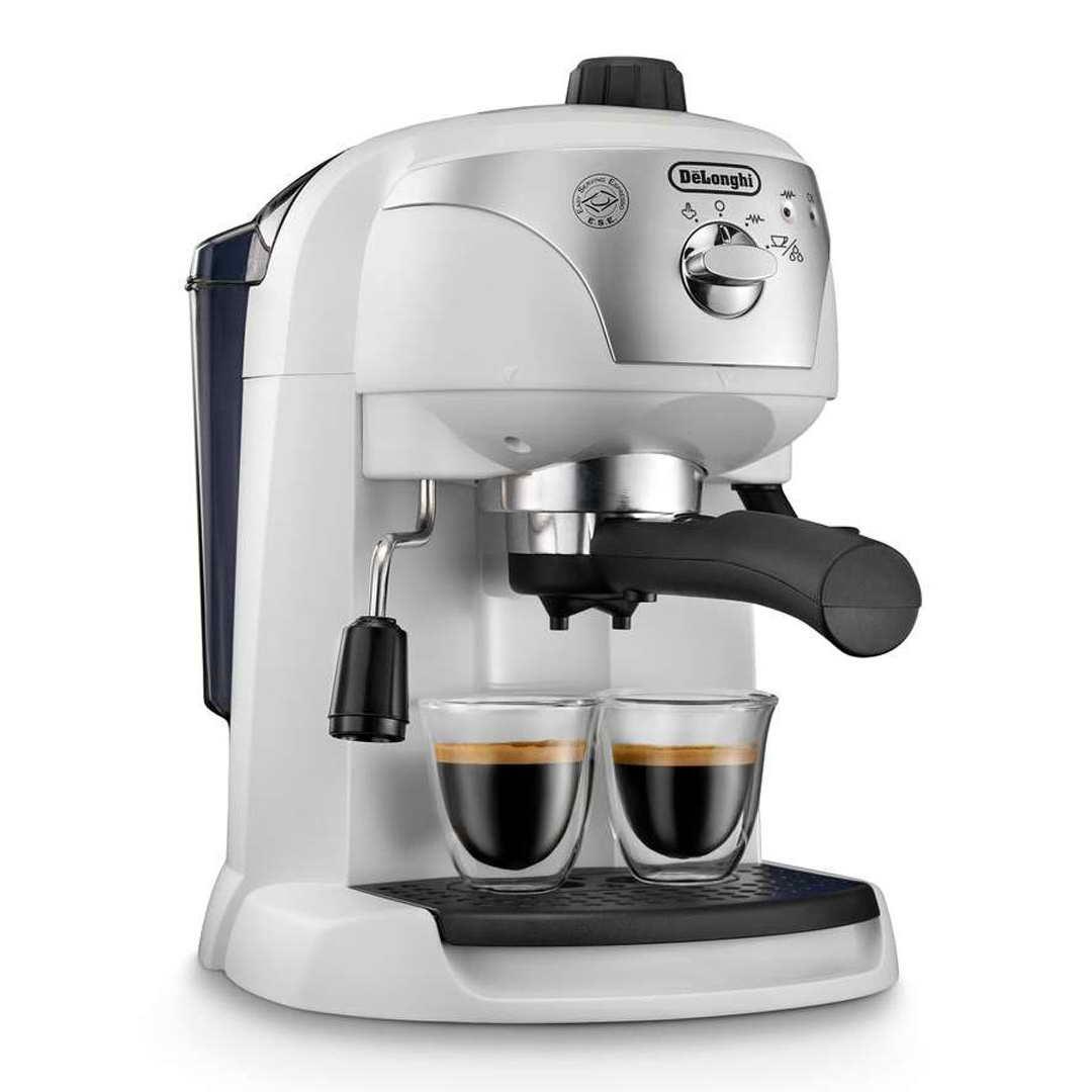 DeLonghi Motivo Espresso and Cappuccino Machine White ECC221.W Around The Clock Offers