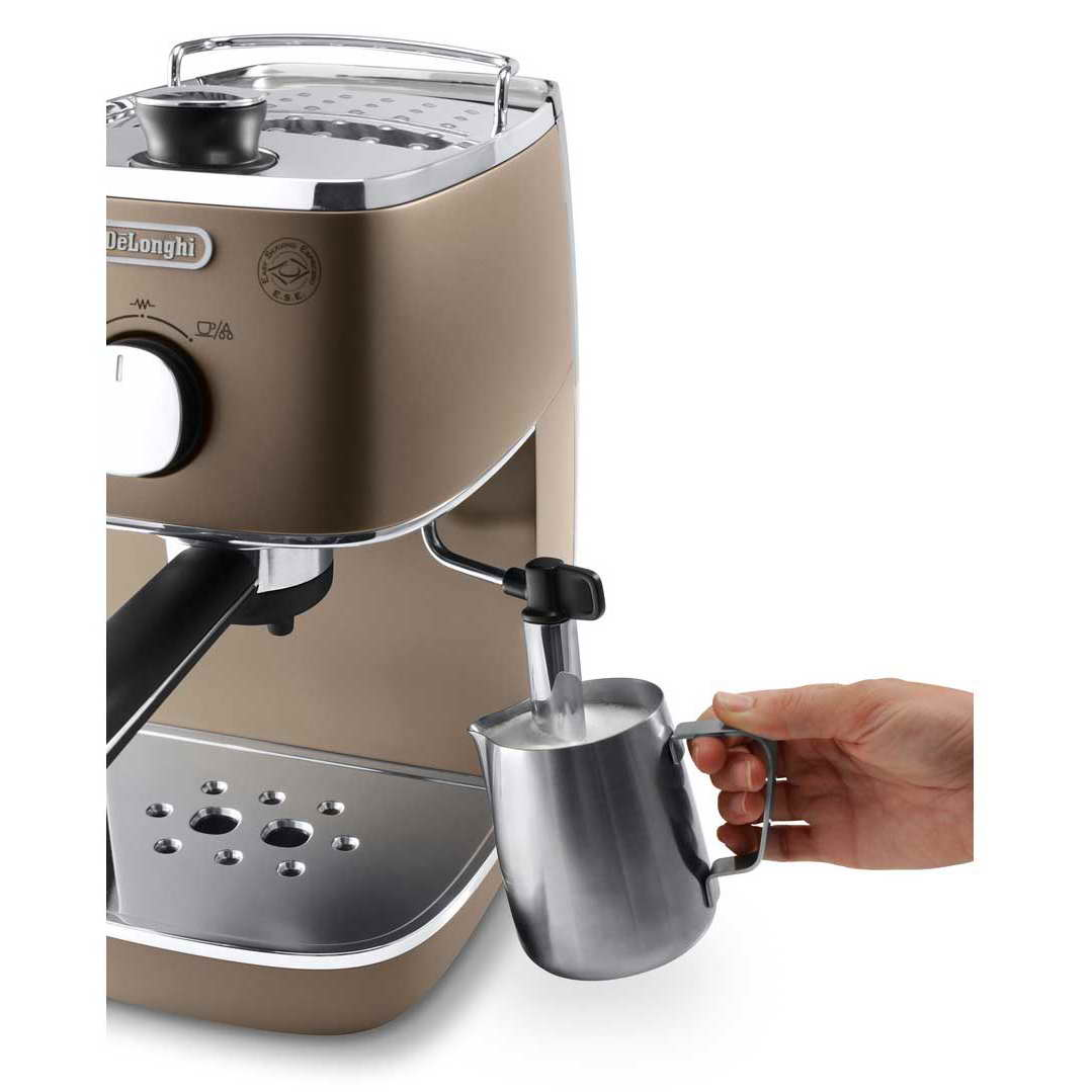 delonghi distinta espresso cappuccino machine bronze eci341bz around the clock offers. Black Bedroom Furniture Sets. Home Design Ideas