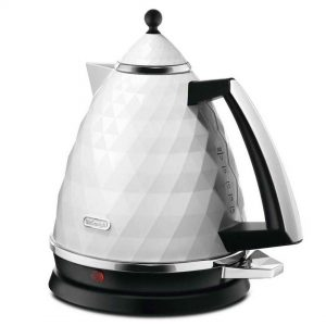 DeLonghi KBJ3001W Brillante Diamond Jug Kettle White