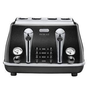 DeLonghi CTOM4003BK Icona MicaLite Vintage Toaster Black 1