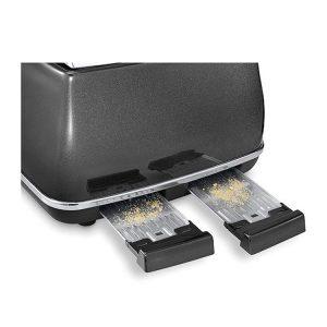 DeLonghi CTOM4003BK Icona MicaLite Vintage Toaster Black 3