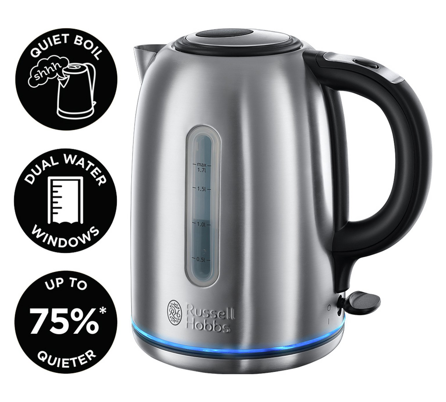 russell hobbs 20460 buckingham kettle stainless steel around the clock offers. Black Bedroom Furniture Sets. Home Design Ideas